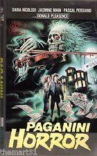 Paganini Horror (1989) VHS AVO 1a Ed  Donald Pleasence  Daria Nicolodi Coizzi