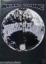 "Neil Young ""Mirrorball"" U.K. Promo Poster - Classic Rock Music Legend"