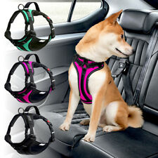 Reflective No Pull Dog Harness Soft Dog Car Seat Vest Harness with Handle M L