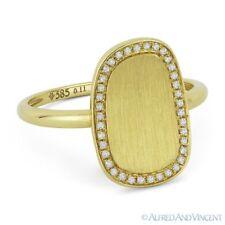 0.11ct Round Cut Diamond 14k Yellow Gold Right-Hand Brushed-Finish Fashion Ring