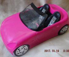 Mattel Barbie Hot Pink Convertible Car Zebra Stripe Seats Htf Great Gift! S8 1