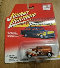 Johnny Lightning Thunder Wagons 1933 Ford Delivery Orange W/ Flames  2002