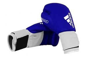 adidas Hybrid 100 Boxing Gloves Blue Sparring Mens Adult 8 10 12 14 16 oz