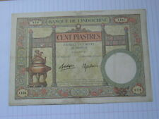 100 Piastres French Indochina 1939 (Repair)