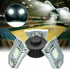 6000LM LED Deformable Garage Light Manually Open Ceiling Lamps E27 Bulb New