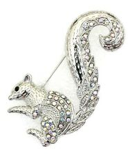 Gorgeous AB Crystal Squirrel Pin Brooch C512