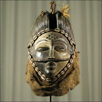 59692) Afrikanische Punu Holz Maske Gabun Afrika KUNST