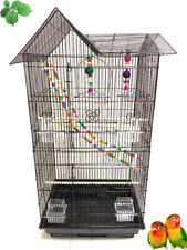 Large Bird Flight Cage With Toy Canary Aviary Parakeet Cockatiel LoveBird Finch