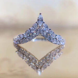 Elegant 925 Silver Rings for Women Cubic Zirconia Anniversary Jewelry Size 6-10