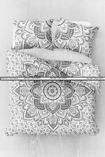 Queen Size Duvet Cover With Two Pillow Cover Indian Flower Ombre Mandala Bedding