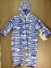 Columbia Snowtop Bunting Fleece Diagonal Zipper $40 Grape Juice Polar Stripe NWT