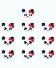 8PC Panda Bear Flat Back Embellishment Scrapbooks Hair Bow Cupcake Topper Button
