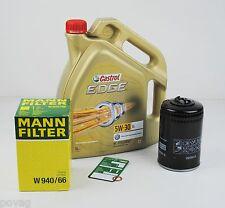 5L Castrol EDGE FST 5W-30 Longlife MANN Ölfilter Audi A4 1,8T