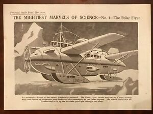 The Polar Flyer Boys Magazine Insert Aircraft Prototype Drawing Aviation