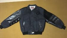 Vintage Oakland Raiders NFL Jeff Hamilton Design leather & Cotton Jacket  M USA