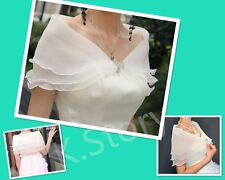 White Bridal Shawl with Crystal Bow Knot Evening Wedding Accessories Scarf Wrap