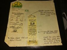1982 Demo  NBA Seattle Supersonics vs Golden State  Ticket Stub  Kingdome