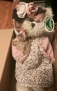 """The Bearington Collection 14"""" Daisy and Belle Teddy Bear 1069 NEW IN OPEN BOX"""