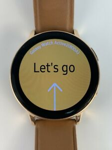 Samsung Galaxy Watch Active 2 SM-R825 44mm Gold-Tone LTE Enabled Stainless Steel