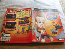 PLAYSTATION 2 INSERT JIMMY NEUTRON  JET FUSION