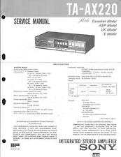 Sony Original Service Manual für TA-AX 220
