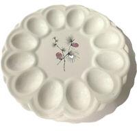"Vintage White porcelain 9"" Inch Deviled Egg Platter-Plate"