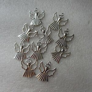 10 Angel Charms. SP.  Gift, Crafts Jewellery Making
