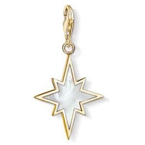 New Genuine Thomas Sabo Gold Sterling Silver M O Pearls Star Charm ref 1539 £89