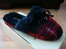 NEW Women MICHAEL Michael Kors Carter Slipper RED/PLAID 8