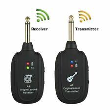 Wireless Guitar System 2.4G Rechargeable 4 Channels Audio Transmitter /Receiver