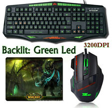 SUNT GK93 Ergonomic Backlit Gaming Keyboard + 3200DPI Gaming Mouse + Mouse Pad