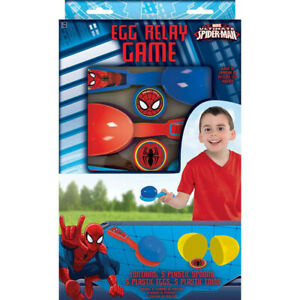 Spiderman Egg Relay Game Contains 5 Plastic Spoons, Eggs & Coins