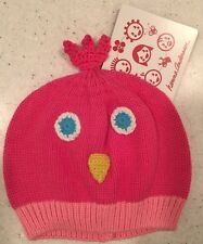 Nwt $18 Hanna Andersson Pink Baby Bird 100% Cotton Cap 💕 Girl Knit Hat 0-12 M