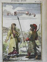 Georgians Caucasus costume traditional peoples fashion plate 1683 Mallet print