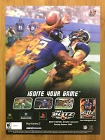 NFL Blitz 2003 PS2 Xbox GC Vintage Print Ad/Poster Official Michael Strahan Rare