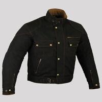 Motorrad Jacke mit Protektoren Herren, Herren Motorrad Textteil Jacke Neu