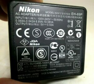 Nikon EH-69P AC USB battery charger adapter for Coolpix cameras Genuine Original