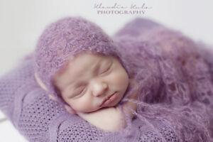 newborn bonnet luxury mohair baby bonnet photo prop uk seller choose colour