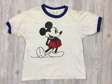 Vintage 70's Mickey Mouse Ringer T-Shirt Size Medium