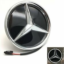 Mercedes Benz Led Eemblem Badge Star Logo Front Grill Shiny Silver GLC GLS GLE