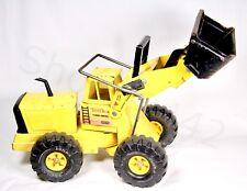 Vintage TONKA Metal Front Loader Yellow Turbo Diesel Pressed Steel Handles Gift