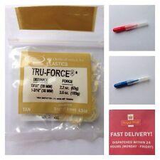 T P Orthodontic Bands Tru-Force Elastic  Tan. + 2 Interdental Brushes Free UK