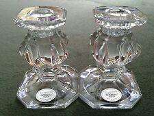 Gorham full lead crystal candlesticks candle holders West Germany vtg
