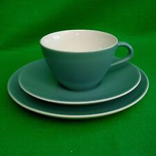 Poole Pottery Blue Moon Teacup Saucer and side plate Trio Vintage Pre 1968