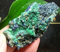80mm Green Malachite after Azurite Rosette (Malachite pseudomorph) China 15-300