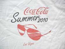 2010 COCA-COLA Coke Sunglasses LAS VEGAS SUMMER T-SHIRT Size Men XL Beach Pool