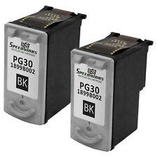 2 PG30 BLACK Ink Printer Cartridge for Canon PG-30 inkjet