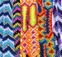 15 Friendship Bracelets Neon Wrap Rainbow Summer Woven Beach Bohemian Jewelry