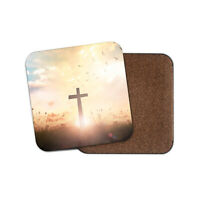 Christian Cross Coaster - Christianity Religion Jesus Religious Cool Gift #16488