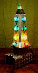 Vintage Carousel Floor Lamp Schausteller Lamp Decor Fence Post Space Age 70er 2